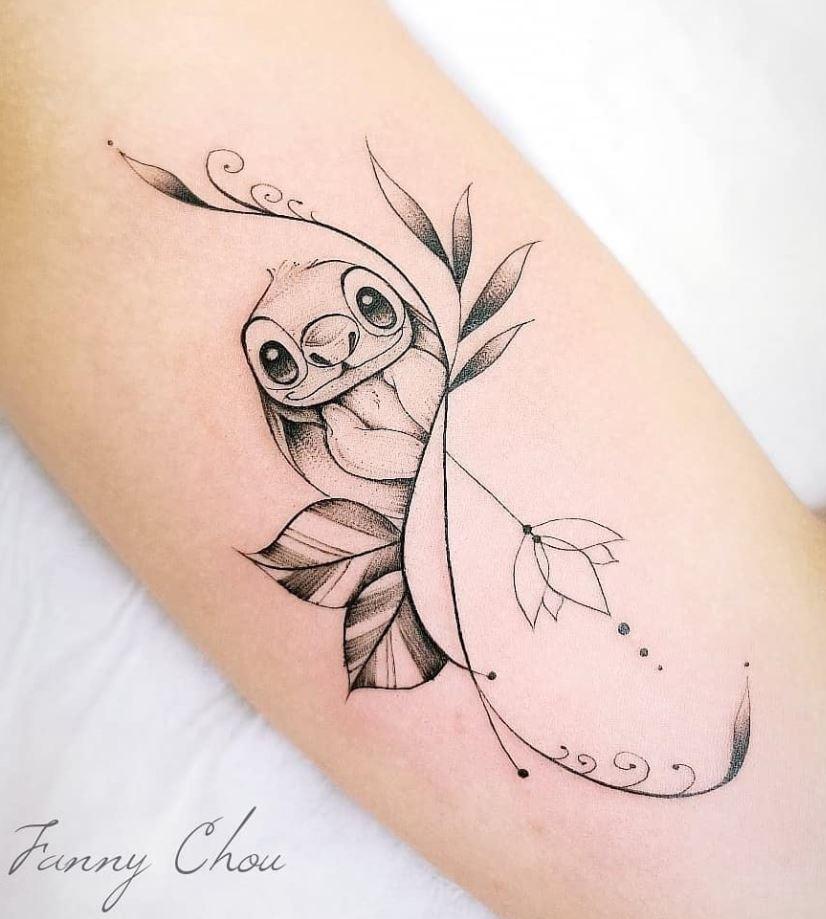 Cute Stitch Tattoo