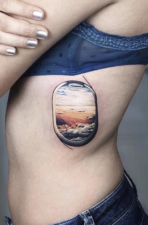 Airplane window Tattoo