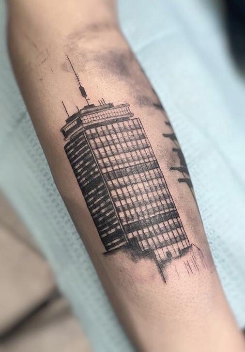 Boston Skyline Tattoo