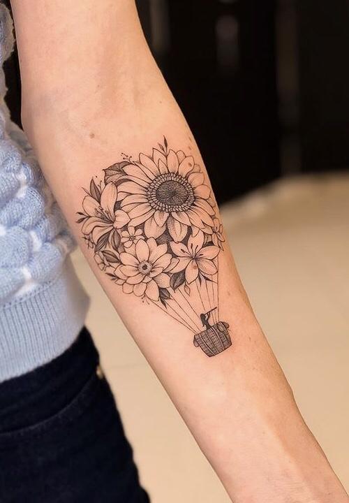 Flower Balloon Tattoo