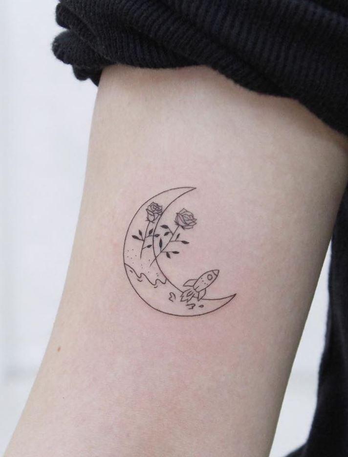 Outstanding Moon Tattoo