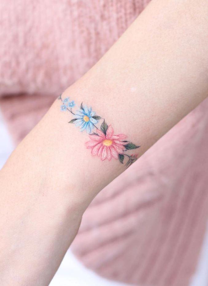 Small Flowers Tattoo