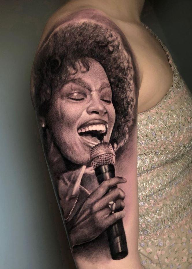 Whitney Houston Tattoo