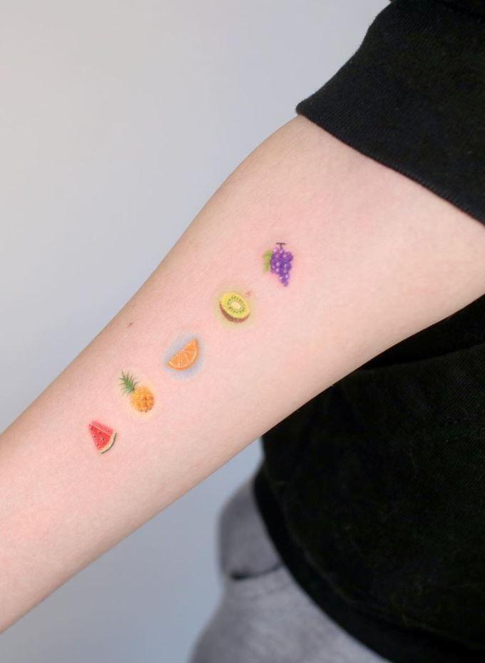 Tiny Fruits Tattoo