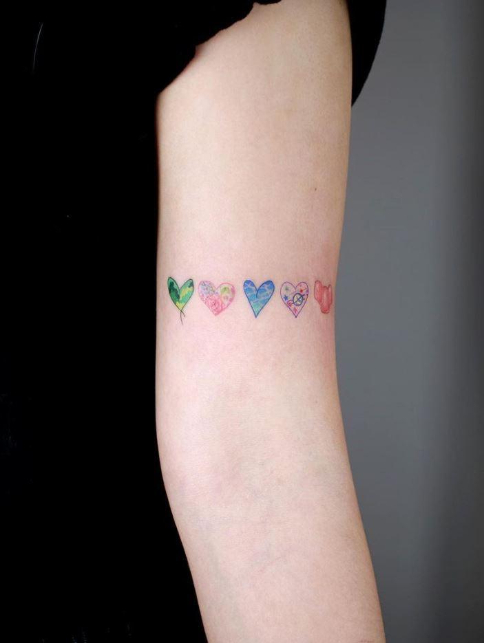 Tiny Hearts Tattoo