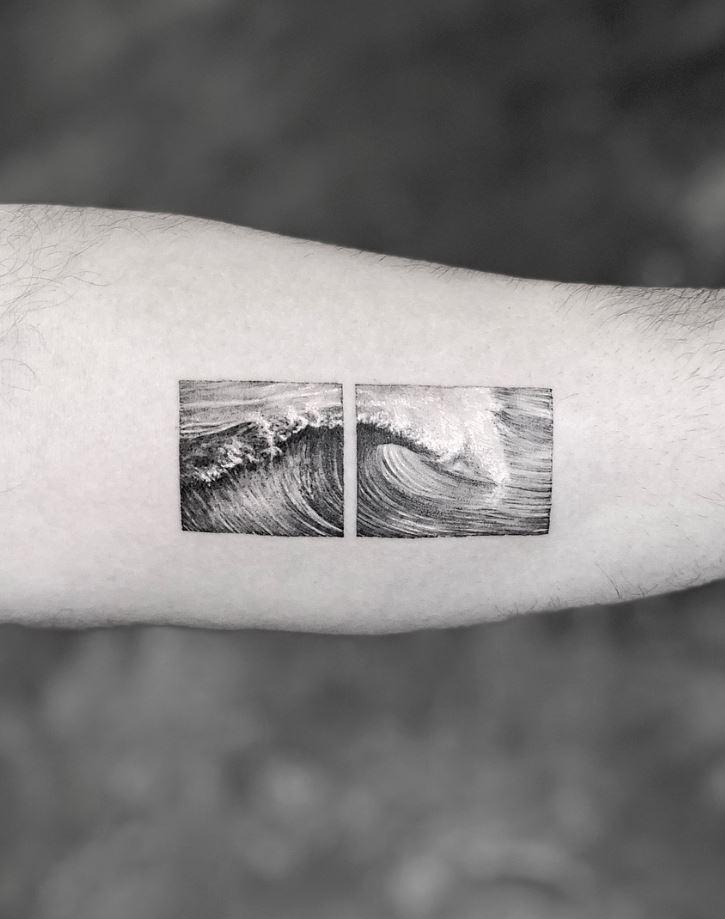 Wave Frame Tattoo