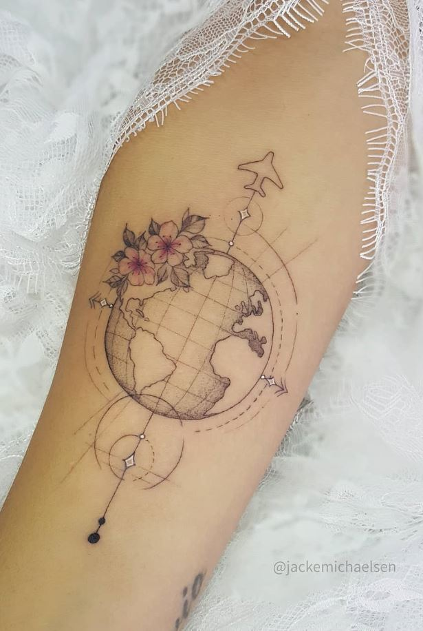 Outstanding Travel Tattoo