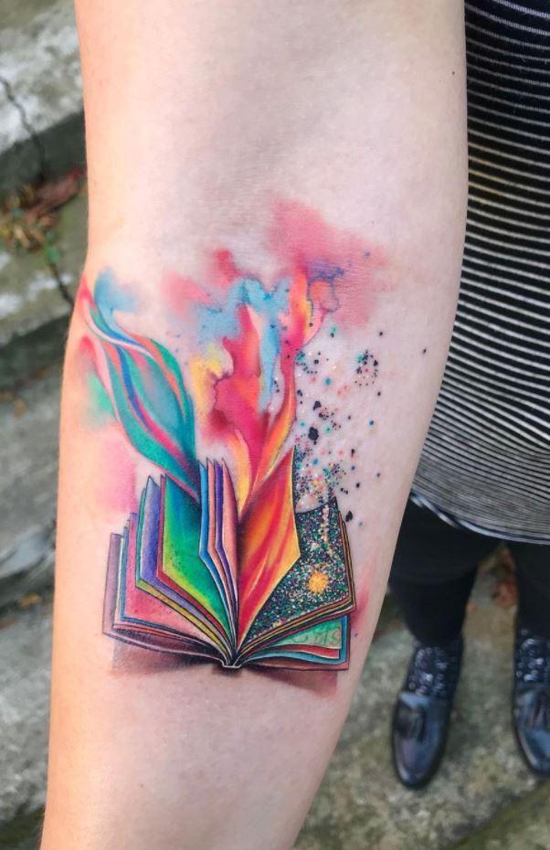 Magical Book Tattoo